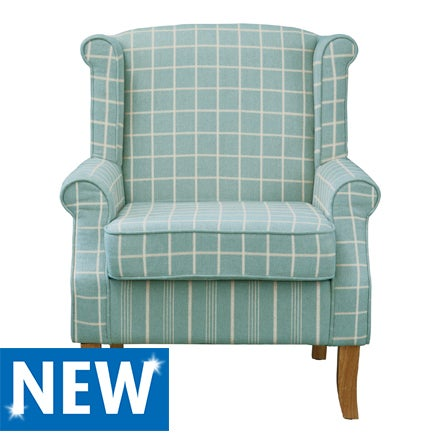 Duck egg Check Edinburgh Armchair