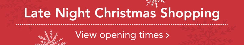 Christmas Shopping Opening Times