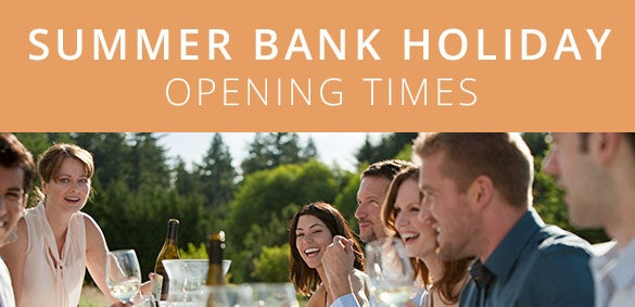 Summer Bank Holiday Opening Times