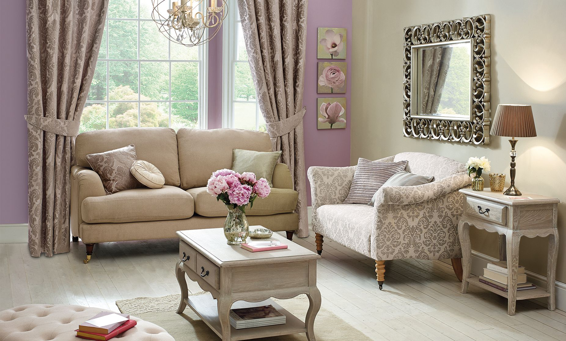 Classical Glamour Living Room