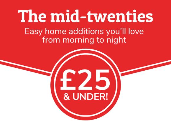The mid-twenties - £25 & under