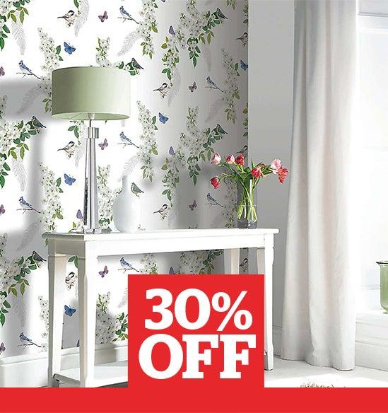 Mitzu White Wallpaper