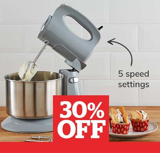 Stand Mixer Grey 300W