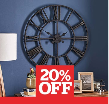 Oversized Skeleton Black Clock