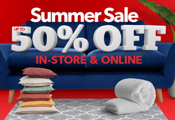 SUMMER SALE - UP TO 50% OFF IN-STORE & ONLINE